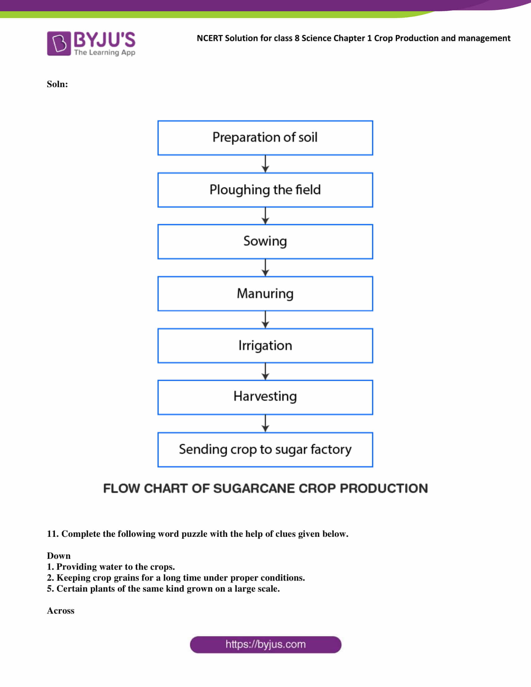 Ncert Solutions Class 8 Science Chapter 1 Crop Production
