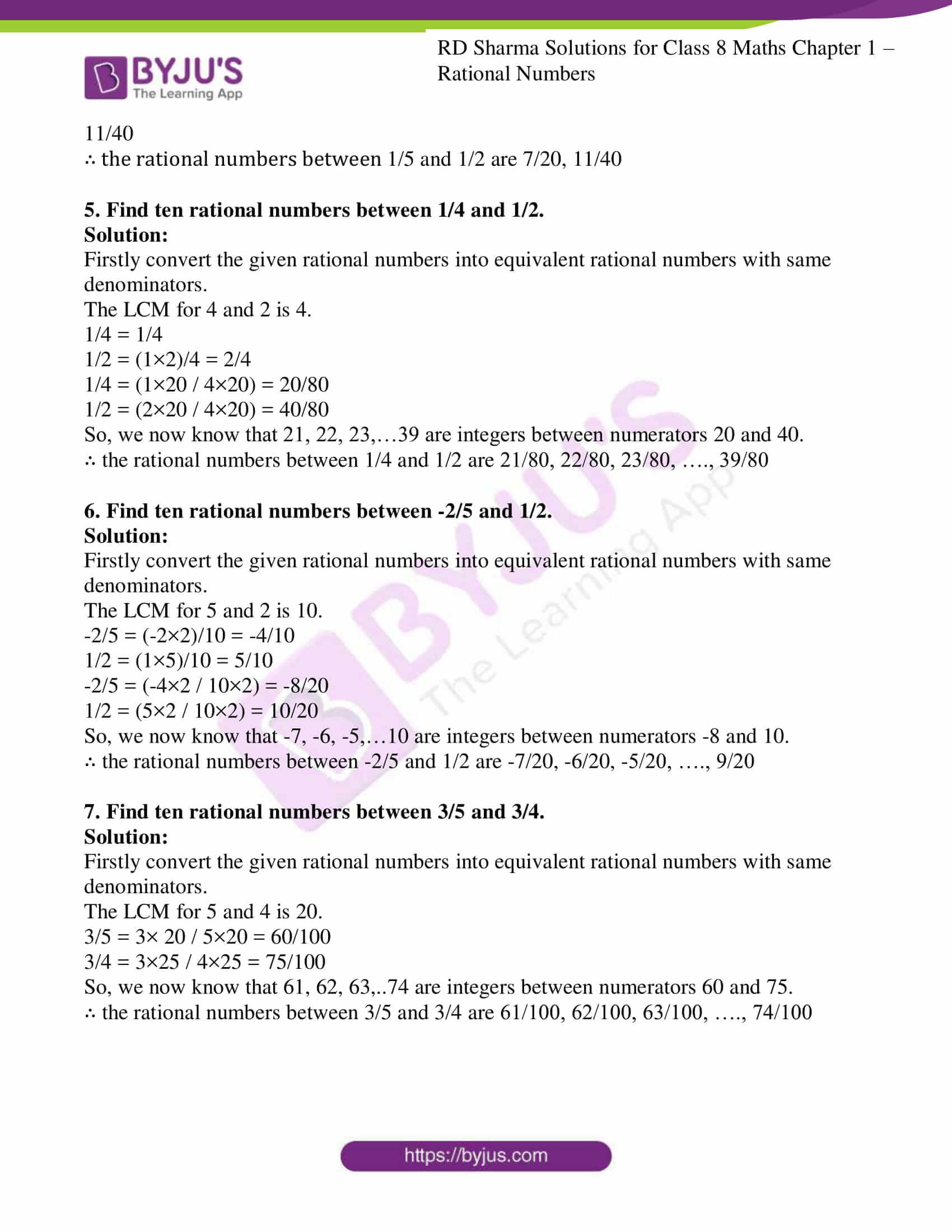 Rational Numbers Worksheet Grade 8 Cbse