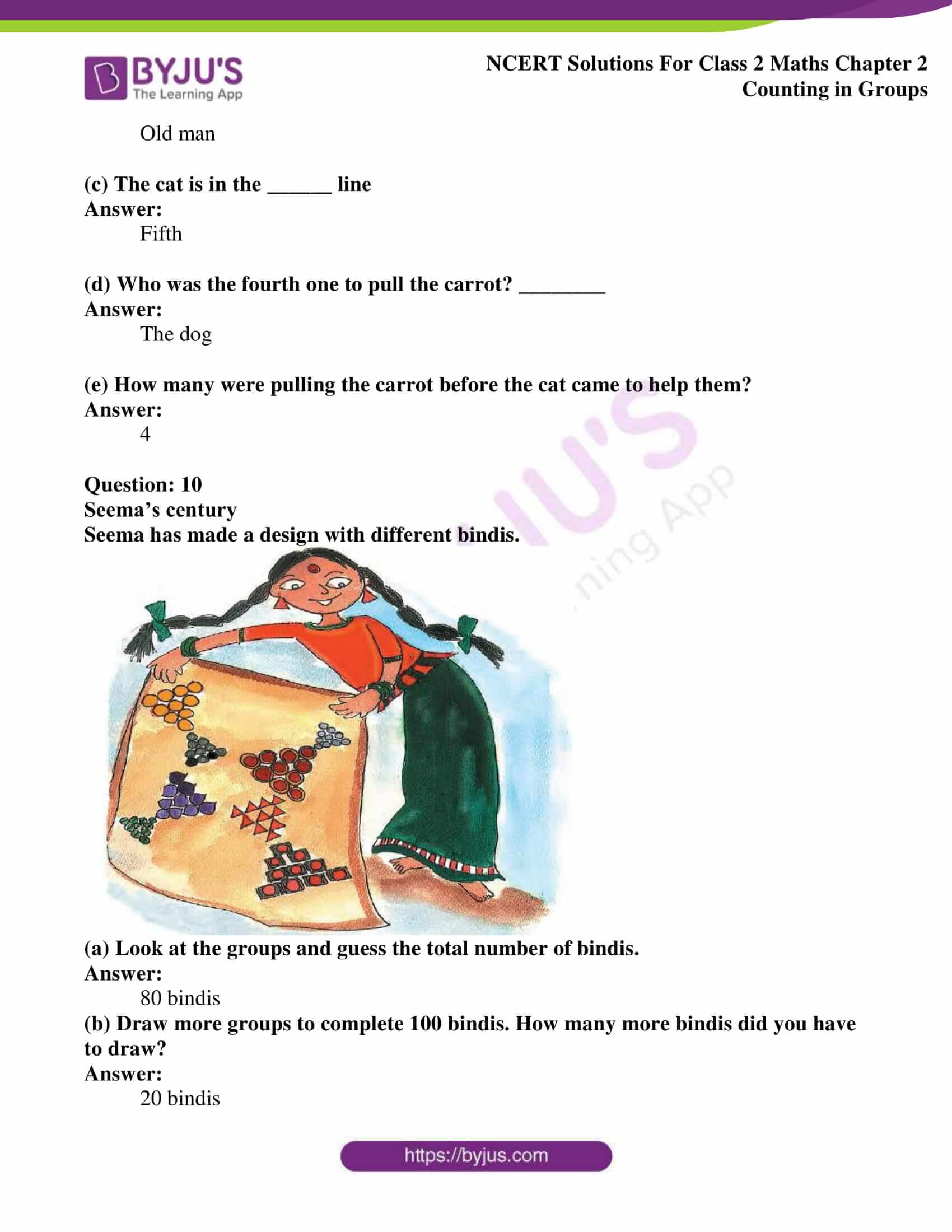 Ncert Solutions For Class 2 Maths Chapter 2 Counting In
