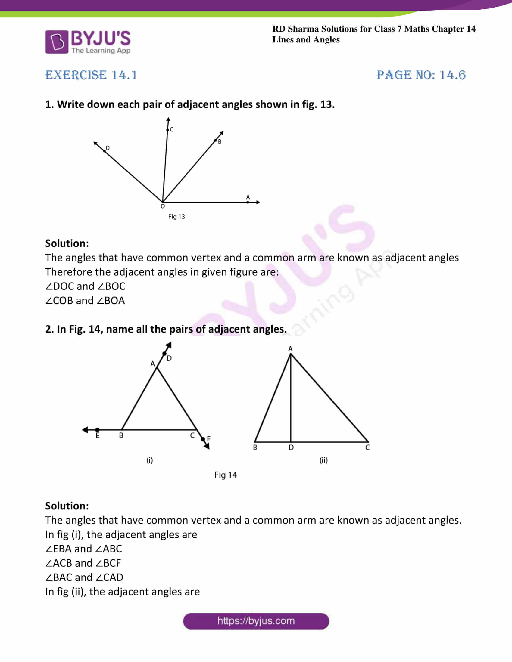Rd Sharma Solutions For Class 7 Maths Chapter 14