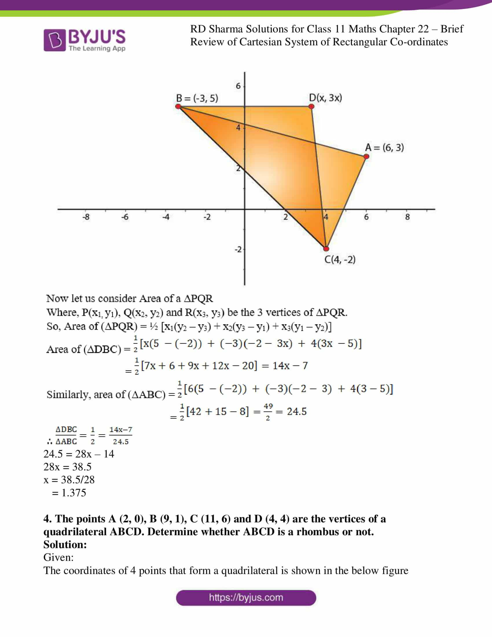 Rd Sharma Solutions For Class 11 Chapter 22