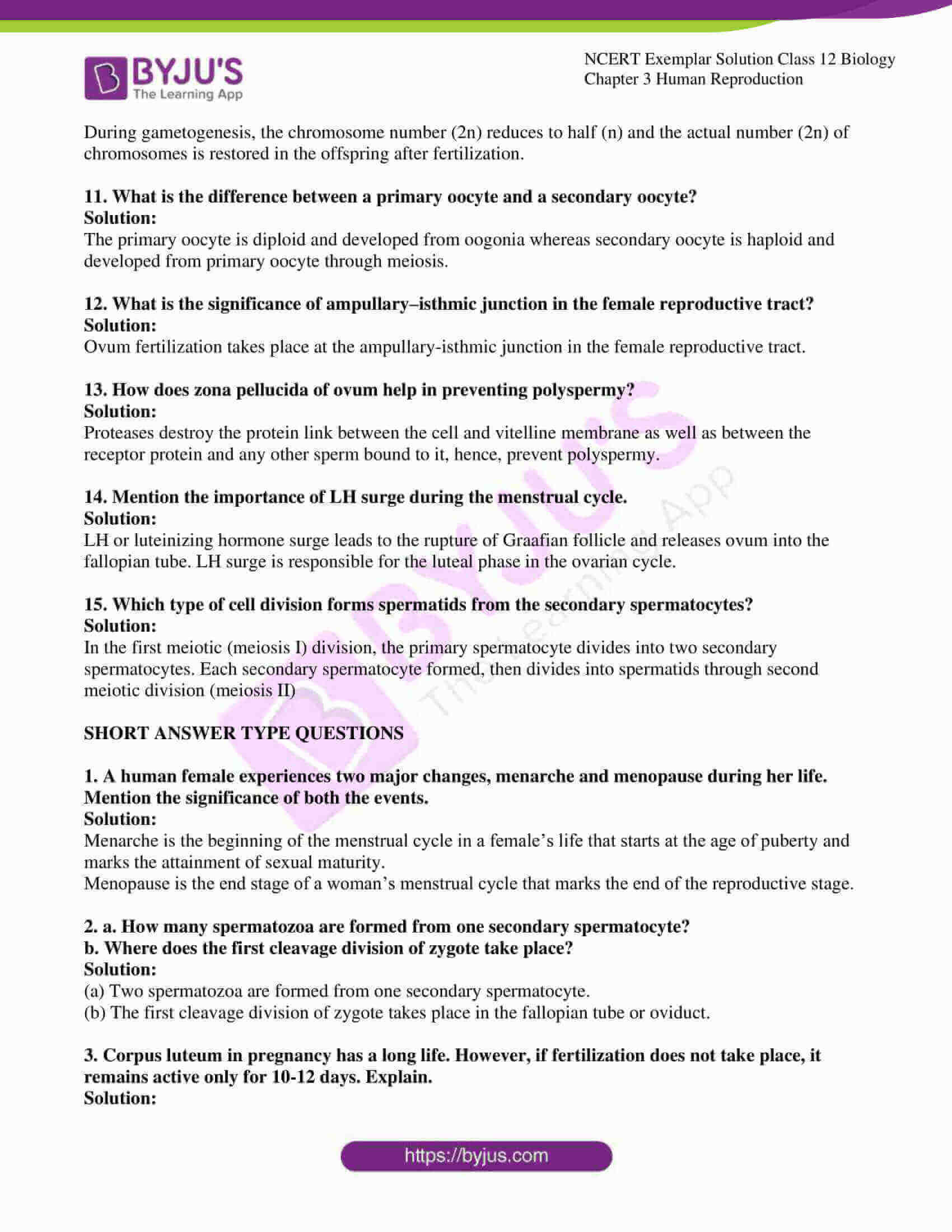 Ncert Exemplar Solutions Class 12 Biology Chapter 3