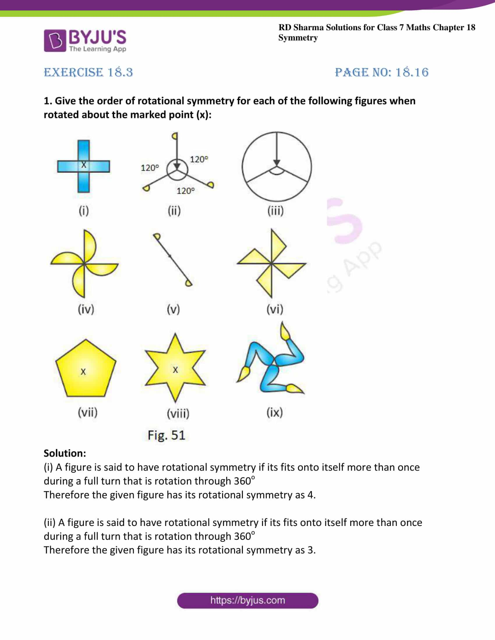 Rd Sharma Solutions For Class 7 Maths Chapter 18