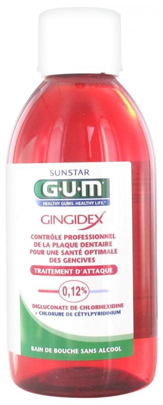 gum gingidex traitement d attaque bain de bouche 300 ml