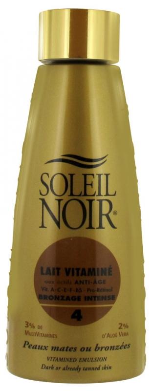 soleil noir lait vitamine bronzage intense spf 4 150 ml