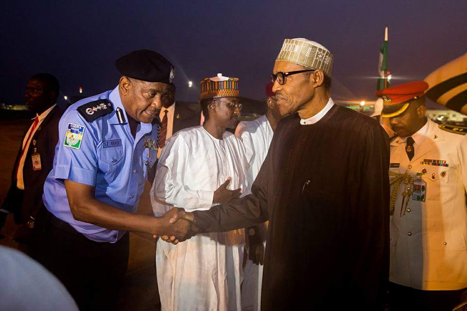 Image result for President Buhari returns to Nigeria