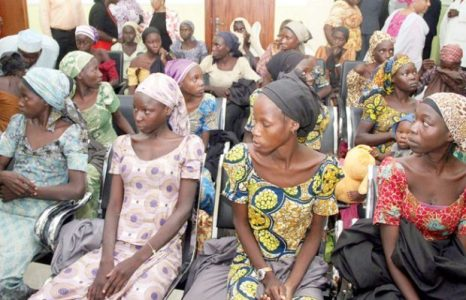 Image result for images of 21 released chibok girls