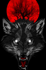Wolf Blood Moon Shirts. He guards the night by Design by Humans