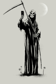 The Selfie Of Death T Shirt By Gloopz. the vanity of death! Grim Reaper