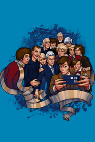 Doctor Selfie War T Shirt By Medusadollmaker. All the doctors gather around fro the selfie. Trying to squeeze all these awesome doctors into one picture will tricky. A cool homage to the doctor who characters of past this art is modern, fun and full of cool references to the BBC show. Doctor Who