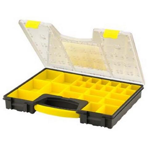 boite de rangement a 25 compartiments stanley 42 2 x 5 2 x 33 4 cm 1 92 748