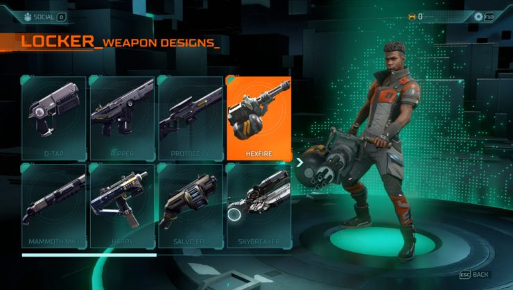 Here's every weapon available in Hyper Scape | Dot Esports