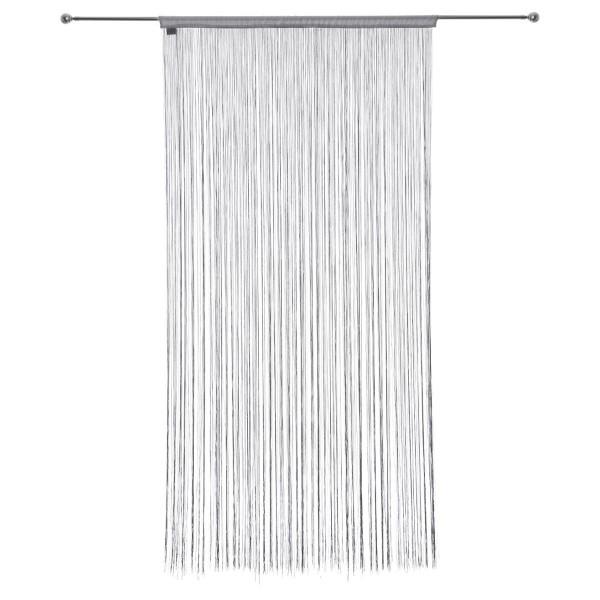 rideau de fil 120 x h240 cm uni gris
