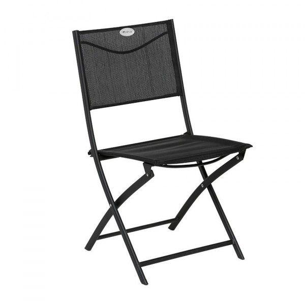chaise de jardin pliante modula noir