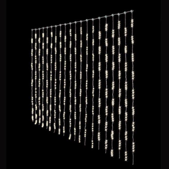 rideau lumineux h3 m blanc chaud 1280 led