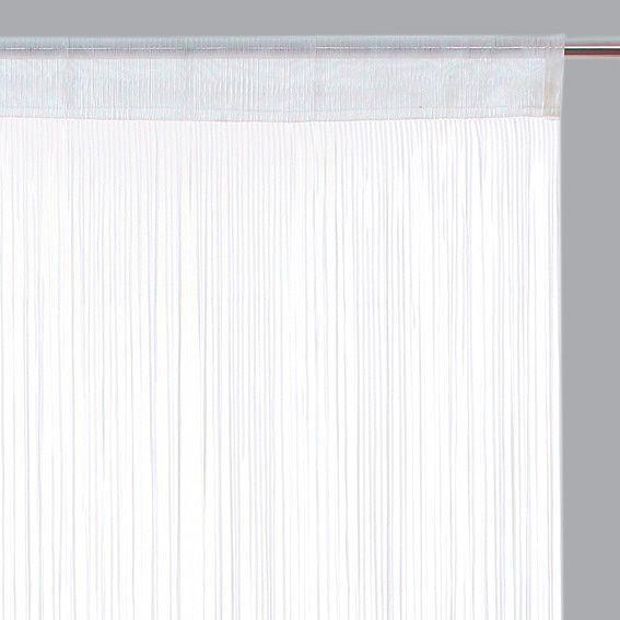 rideau de fil 90 x h200 cm ruban blanc