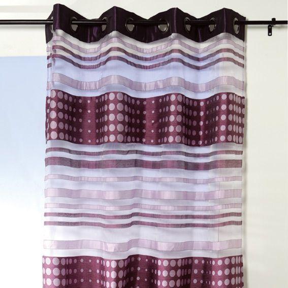 voilage 135 x h240 cm noemie violet