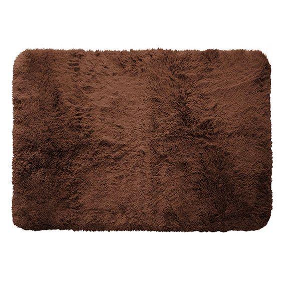 tapis imitation fourrure marmotte l170 cm chocolat