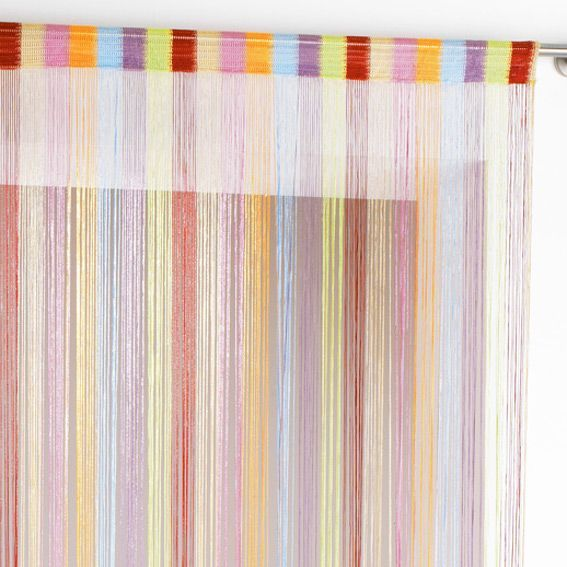 rideau de fil 140 x h240 cm circus multicolore