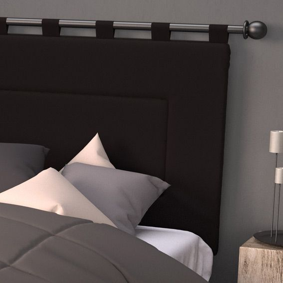 tete de lit 160 cm contemporaine noir