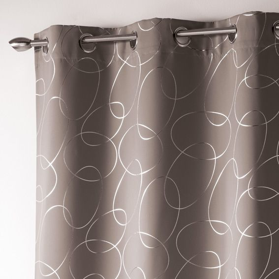 rideau occultant 140 x h260 cm silvermoon taupe