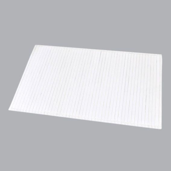 tapis de bain lattes bambou blanc