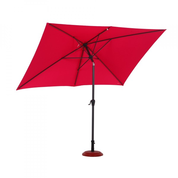 parasol inclinable rectangulaire fidji l 3 x l 2 m framboise