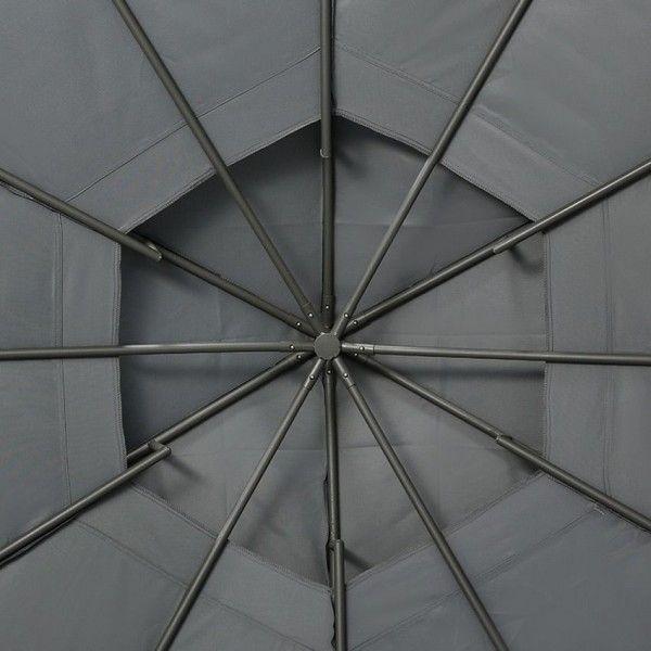toile de tonnelle ronde iloha d3 6 m ardoise