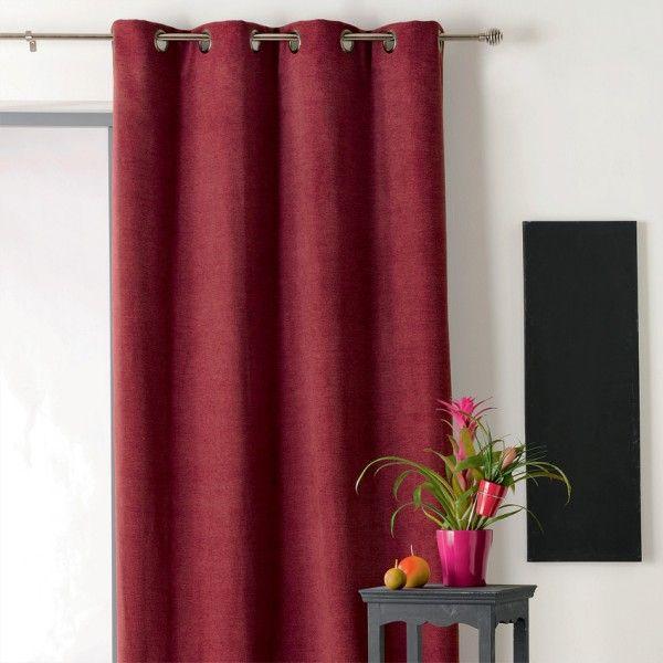 rideau occultant isolant 140 x h260 cm alaska rouge