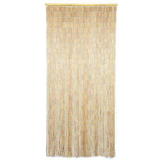 rideau de porte 90 x h200 cm perles bois naturel