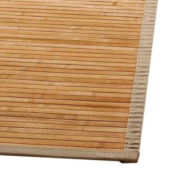 tapis lattes 170 cm bambou naturel