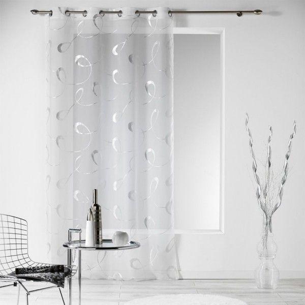 voilage 140 x 240 cm infinity blanc