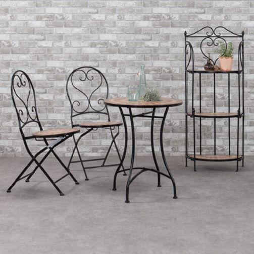 table de jardin mosaique valentine brun