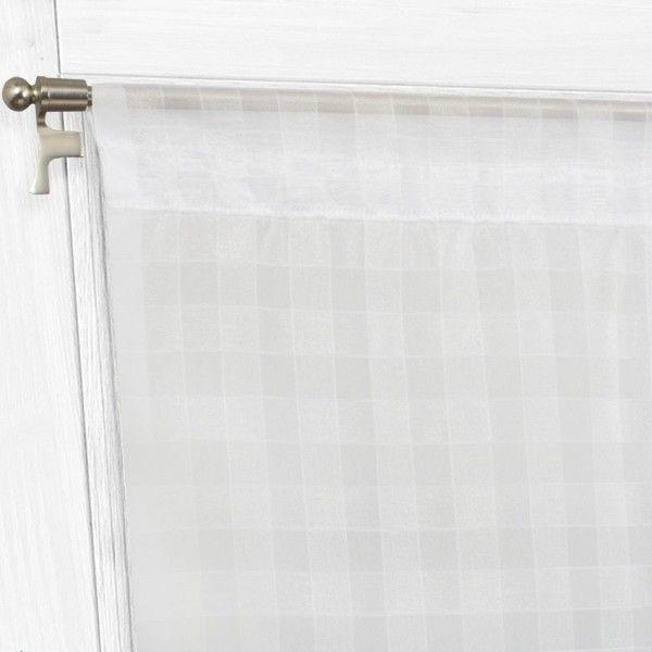 paire de voilages bonne femme 95 x 200 cm hortensia blanc