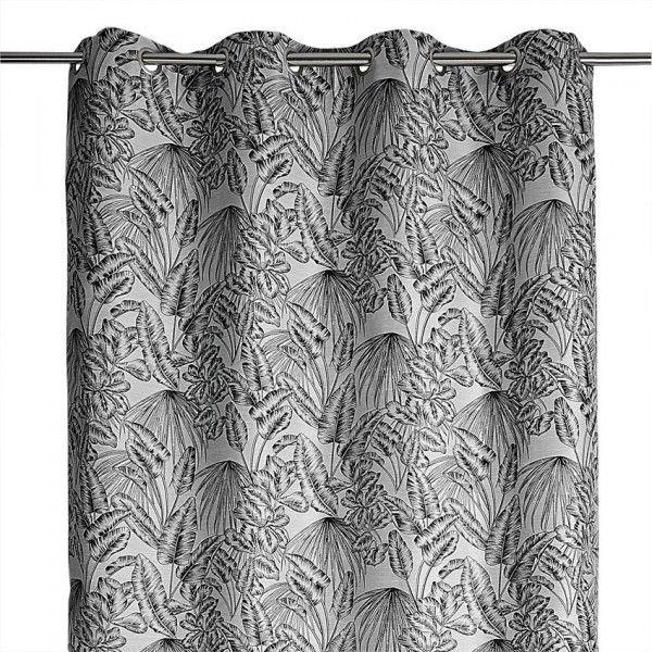 rideau tamisant 140 x 260 cm tropical anthracite