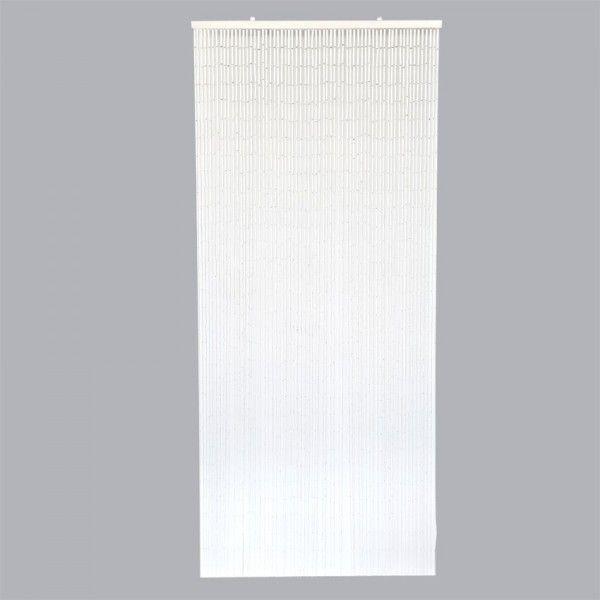 rideau de porte stick bambou blanc