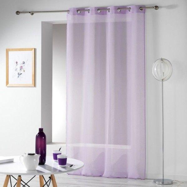 voilage 140 x 280 cm crash telma violet