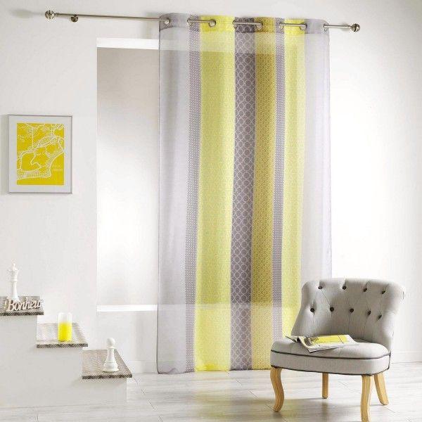 voilage 140 x 240 cm galliance jaune