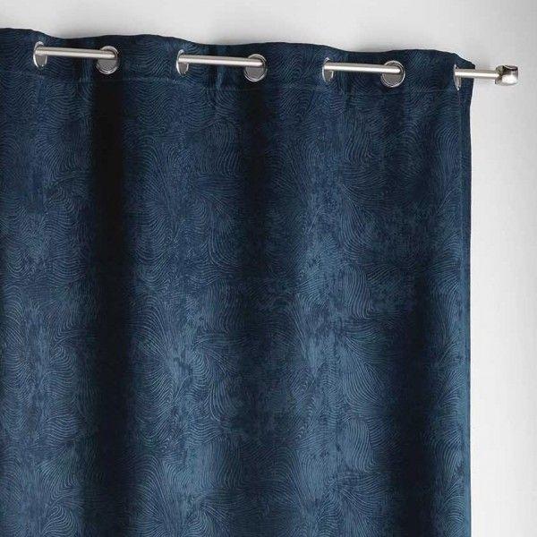 rideau occultant 140 x 240 cm dreamtime bleu indigo