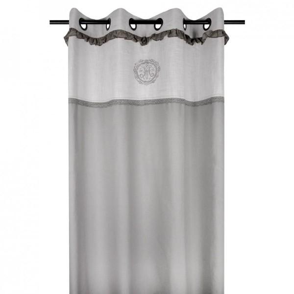 rideau tamisant 140 x 260 cm marie gris