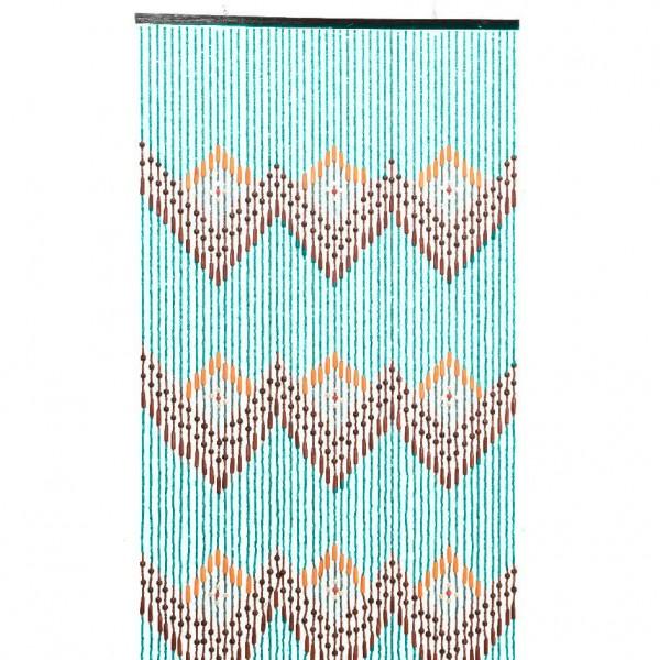 rideau de porte 90 x 200 cm perles migina bleu