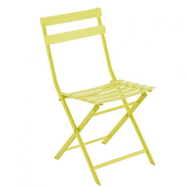 chaise de jardin pliante greensboro vert anis