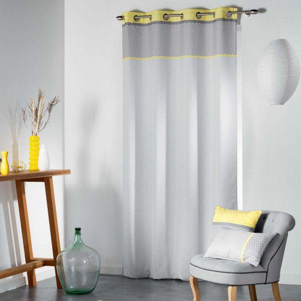 rideau tamisant 140 x 260 cm matik jaune