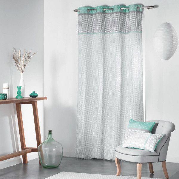 rideau tamisant 140 x 260 cm matik vert menthe