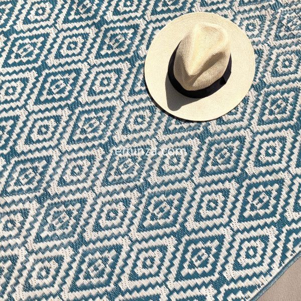 tapis d exterieur 120 x 180 cm aquatika bleu