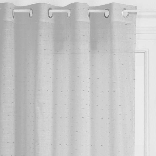 voilage 140 x 240 cm mae gris clair