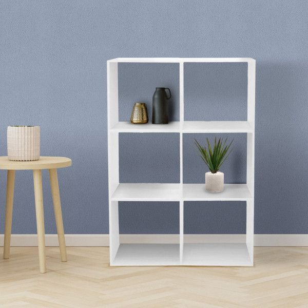 etagere mix 6 cases blanche