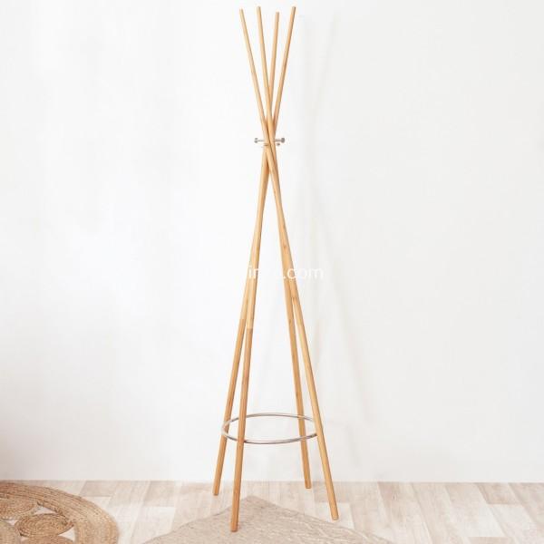 porte manteau bambou naturel
