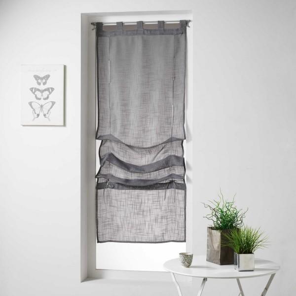 store voilage droit 45 x 180 cm haltona gris