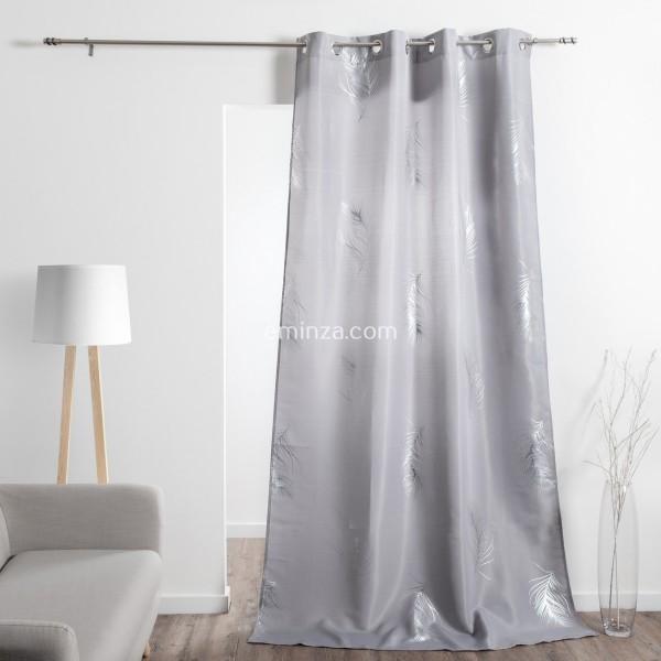 vorhang 140 x 260 cm sensalia grau